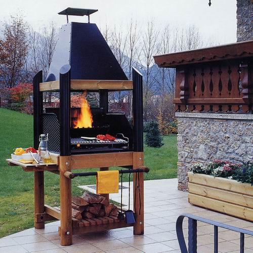 Barbecue caminetto fiamma 90 belletto arredo giardino - Camino da giardino ...