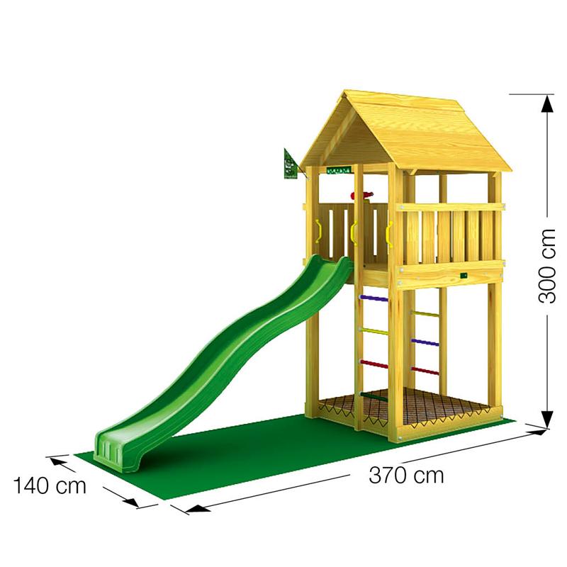 Torre scivolo pircher cabin belletto arredo giardino for Arredo giardino treviso